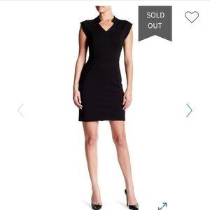Halston Heritage Black Dress Sz 8